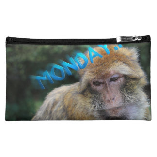 Monkey sad about monday cosmetic bags
