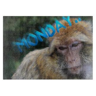 Monkey sad about monday cutting board