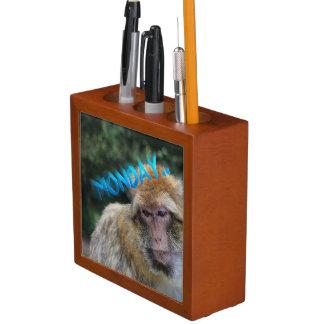 Monkey sad about monday desk organiser