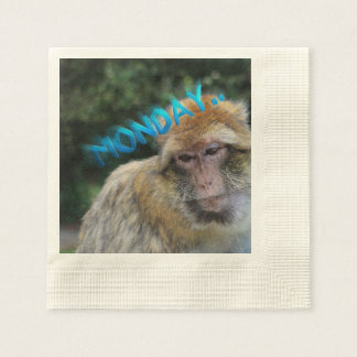 Monkey sad about monday disposable serviettes