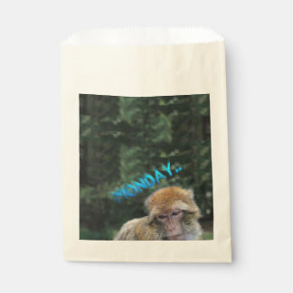 Monkey sad about monday favour bag
