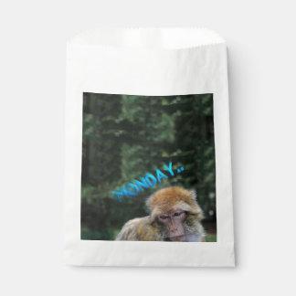 Monkey sad about monday favour bags