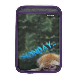 Monkey sad about monday iPad mini sleeve