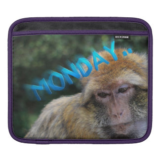 Monkey sad about monday iPad sleeve