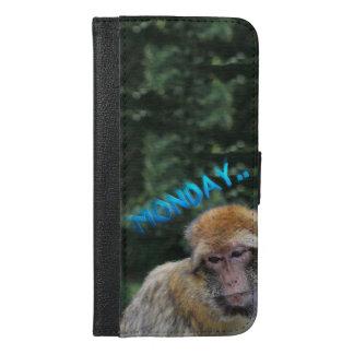 Monkey sad about monday iPhone 6/6s plus wallet case