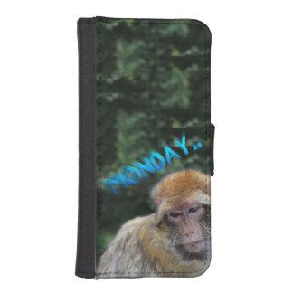Monkey sad about monday iPhone SE/5/5s wallet case