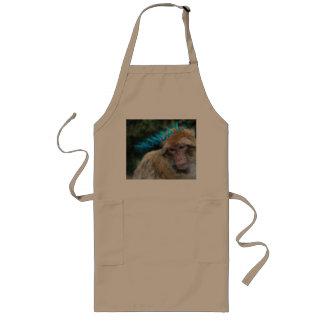 Monkey sad about monday long apron
