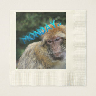 Monkey sad about monday paper serviettes