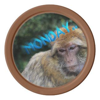 Monkey sad about monday poker chips