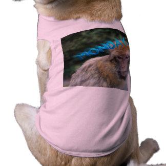 Monkey sad about monday shirt