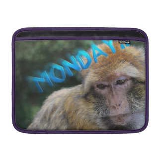 Monkey sad about monday sleeve for MacBook air
