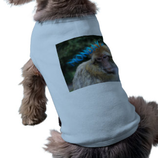 Monkey sad about monday sleeveless dog shirt