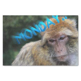 Monkey sad about monday tissue paper