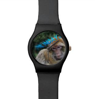 Monkey sad about monday watch