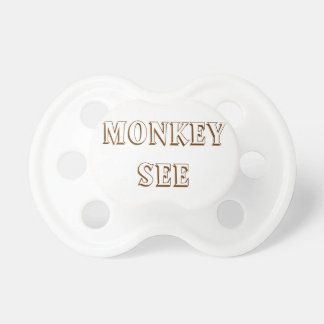 Monkey See & Monkey Do Pacifiers for Twins