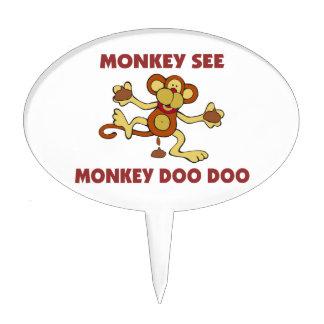 Monkey See Monkey Doo Doo Cake Toppers