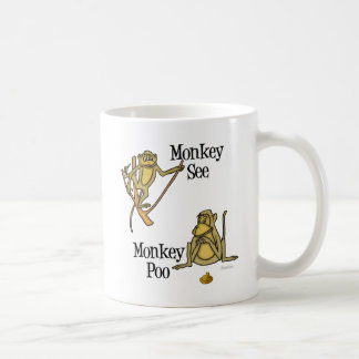 Monkey See Monkey Poo Coffee Mug