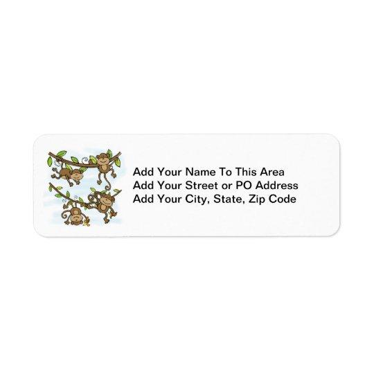 Monkey Shine Return Address Label