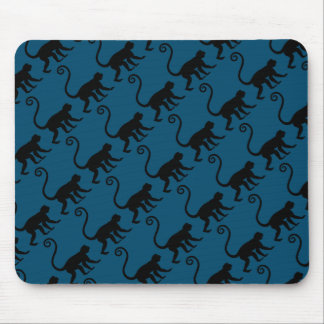 Monkey Silhouette Mouse Pad