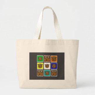Monkey Stamp Grey Tote Bags