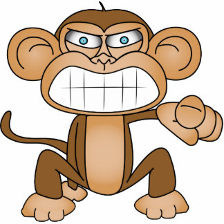 Monkey Standing Photo Sculpture