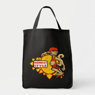 Monkey Styles Skateboarding Gear Tote Bag