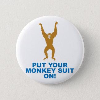 Monkey Suit 6 Cm Round Badge