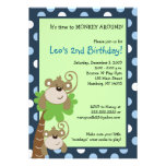 Monkey Time 5x7 Palm Tree Jungle Birthday Invite