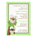 Monkey Time 5x7 TWINS Jungle Baby Shower