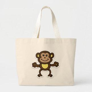 monkey jumbo tote bag