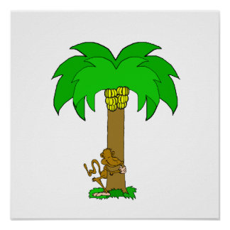 Monkey Tree Hugger Poster