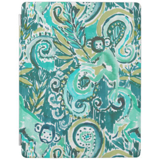 MONKEY TRICKSTER Paisley in Jade Green iPad Cover
