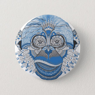 Monkey -universal 6 cm round badge