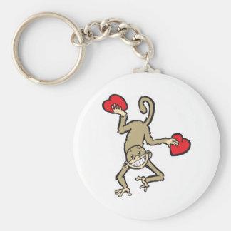 monkey valentine keychain