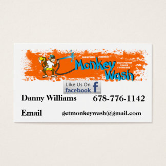 Monkey Wash card