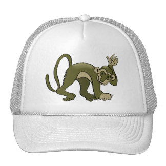 Monkey Waves At You Trucker Hat