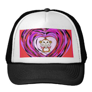 monkey with a heart hats