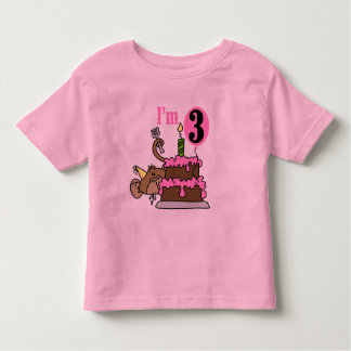 Monkey with Cake 3rd Birthday Tshirts and Gifts
