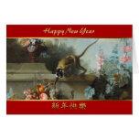 Monkey with Fruits Flowers 2 - Monkey Year 2016 Greeting Card