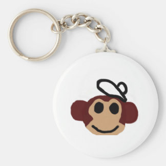 Monkey With Hat Keychains