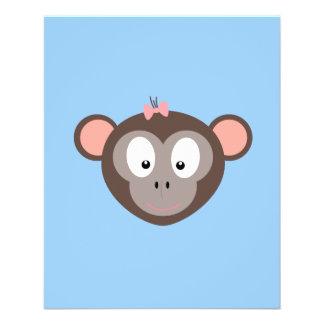 Monkey with pink ribbon 11.5 cm x 14 cm flyer