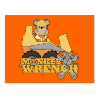 Monkey Wrench Bulldozer T-shirts and Gifts Postcard
