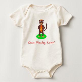 monkeybaby, Dance, Monkey, Dance! Baby Bodysuits