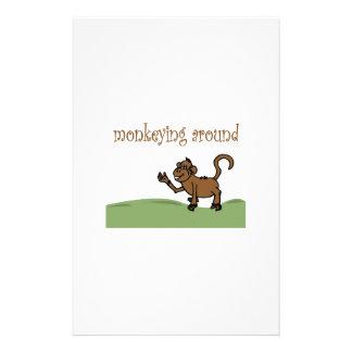 Monkeying Around Personalized Stationery