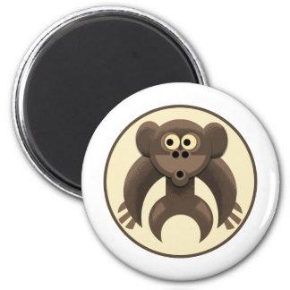 Monkeypit Logo 6 Cm Round Magnet