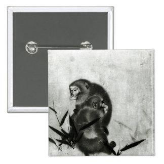 Monkeys 15 Cm Square Badge