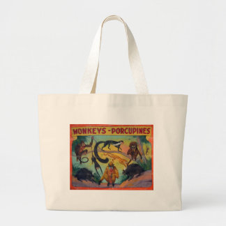 Monkeys and Porcupines Large Tote Bag