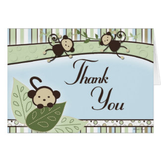 Monkeys and Thank You Card