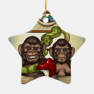 Monkeys Ceramic Ornament