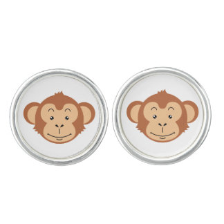 Monkey's face with banana's cuff links